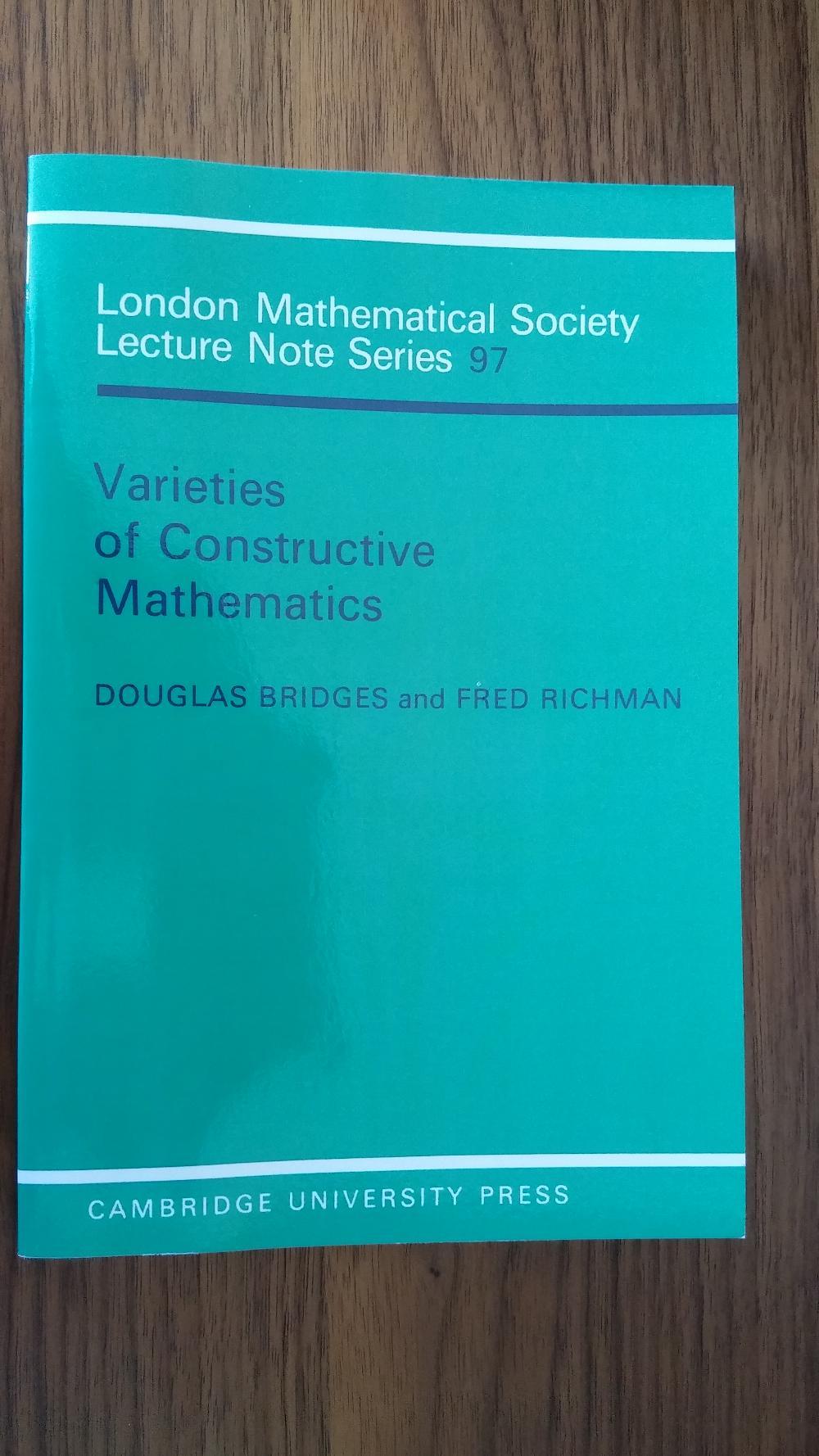 Douglas S  Bridges - My Mathematics